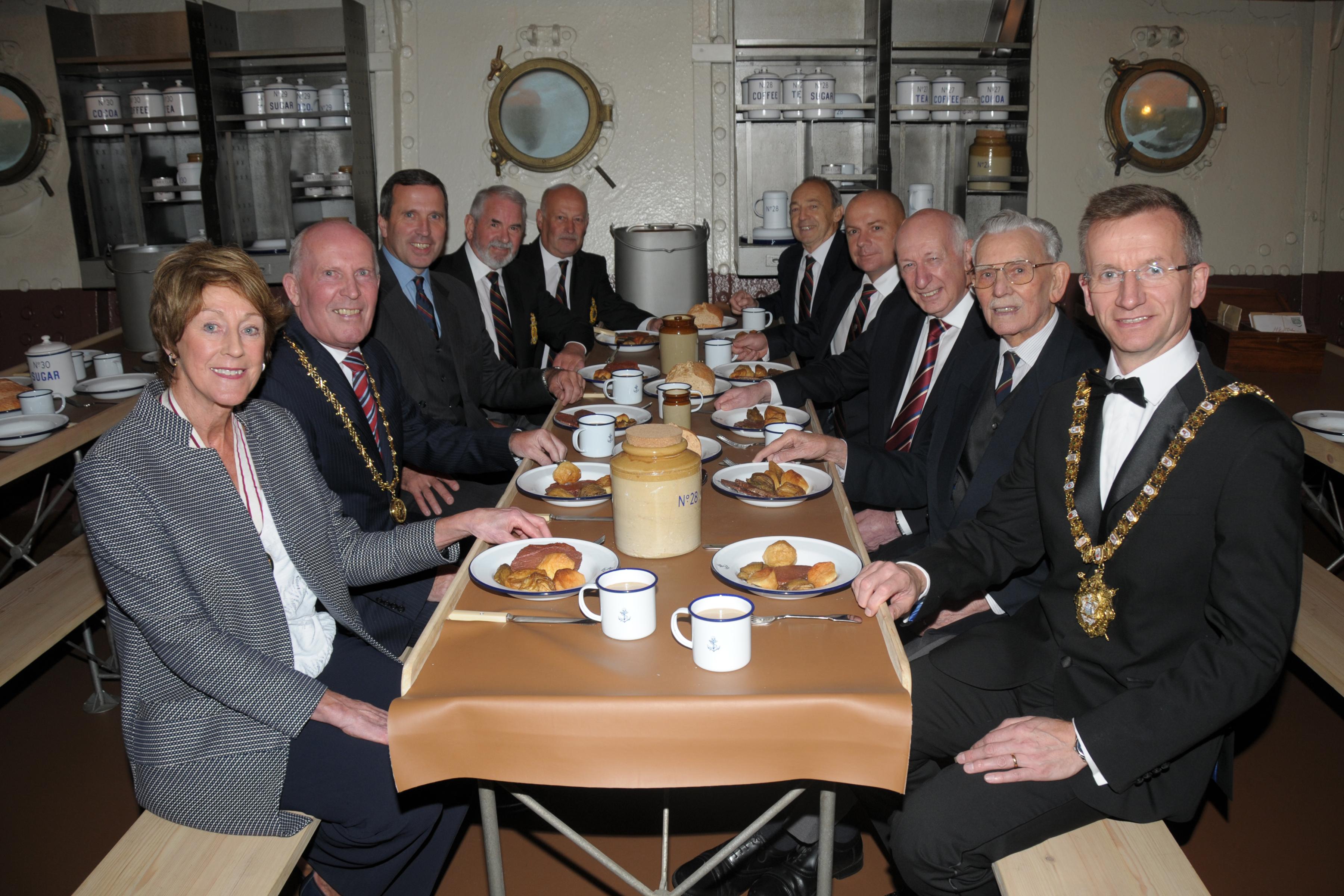 Judith Eve CBE DL attended the Royal Marines Association of Ireland reception on board HMS Caroline in 15th October 2016.