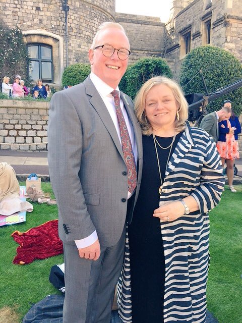 Alan & Susan Logan, retiring Principals of The Boys and Girls Model Schools respectively represented The Belfast Lieutenancy at The Royal Wedding