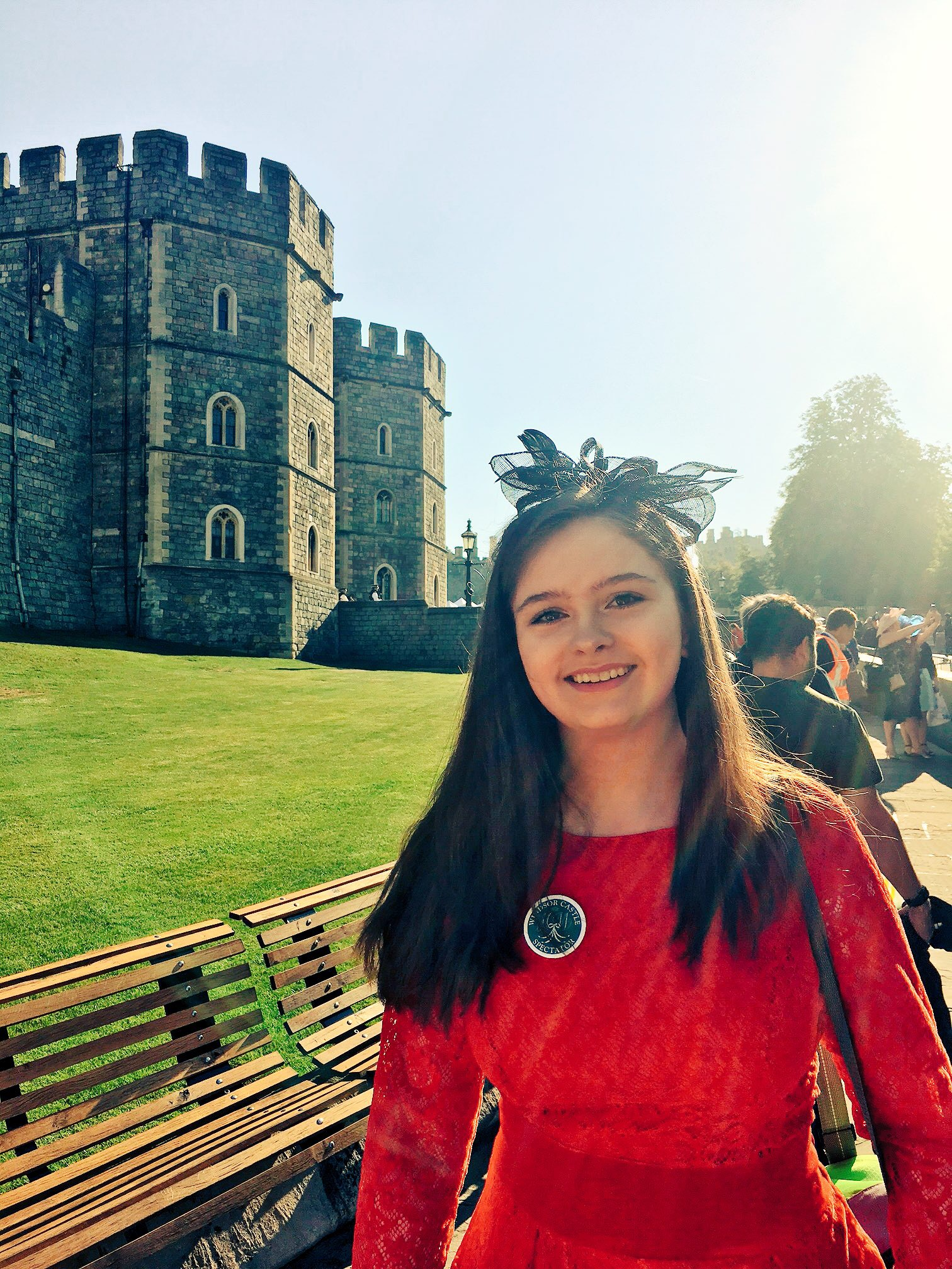 Kerri Fry, Action Cancer's youngest long-term volunteer represented the Belfast Lieutenancy at the Royal Wedding...and had an amazing day!!
