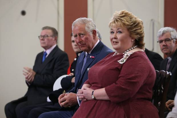 HRH Prince of Wales and Lord Lieutenant Mrs Fionnuala Jay-O'Boyle enjoy performance by The Ulster Orchestra in Carlisle Memorial Hall, Belfast